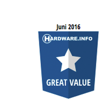 Hardware.info Juni 2016 Great Value Award