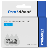 Huismerk Brother LC-123C Inktcartridge Cyaan