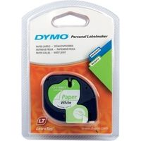 Dymo 91200 (S0721510) Tape Zwart op wit (12 mm)