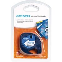 Dymo 91201 (S0721610) Tape Zwart op wit (12 mm)