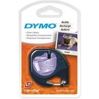 Dymo 12267 (S0721530) Tape Zwart op transparant (12 mm)