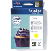 Brother LC-123Y Inktcartridge Geel