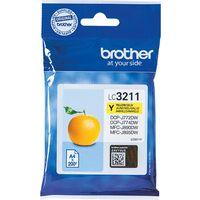 Brother LC-3211Y Inktcartridge Geel