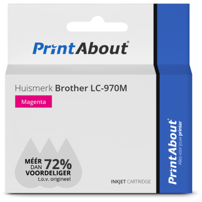 Huismerk Brother LC-970M Inktcartridge Magenta
