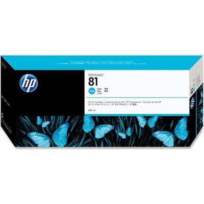 HP 81 (C4931A) Inktcartridge Cyaan