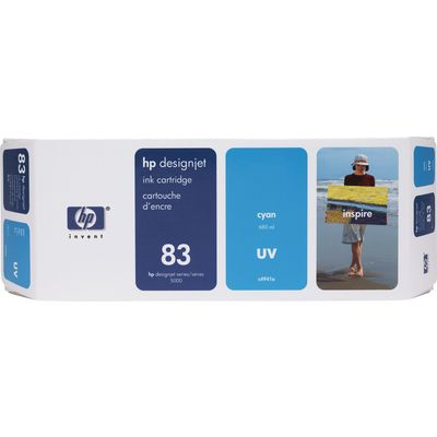 HP 83 (C4941A) Inktcartridge UV-cyaan