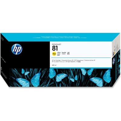 HP 81 (C4933A) Inktcartridge Geel