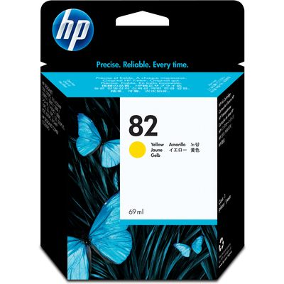 HP 82 (C4913A) Inktcartridge Geel