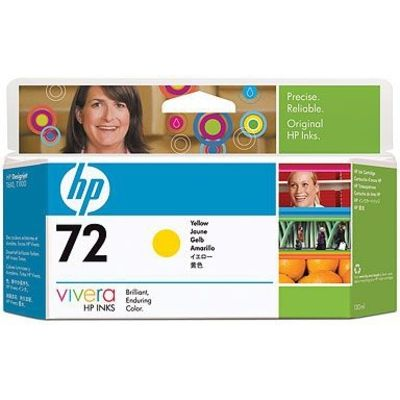 HP 72 (C9373A) Inktcartridge Geel