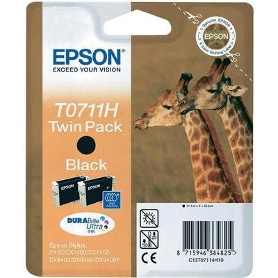 Inkcartridge Epson T071140 zwart HC 2x