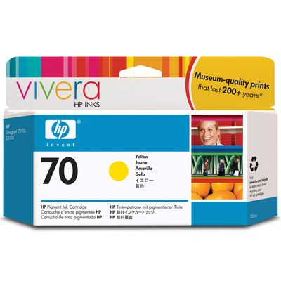 HP 70 (C9454A) Inktcartridge Geel