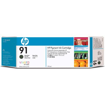 HP 91 (C9464A) Inktcartridge Mat-zwart