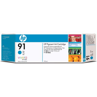 HP 91 (C9467A) Inktcartridge Cyaan