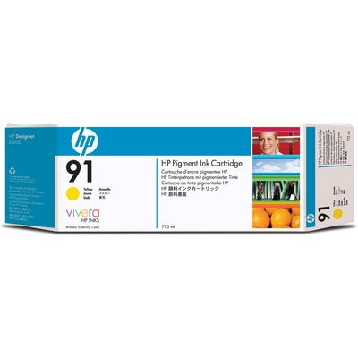 HP 91 (C9469A) Inktcartridge Geel