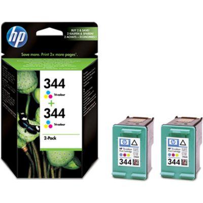 aba0f2a5080 HP 344 (C9505EE) Inktcartridge 3-kleuren Voordeelbundel 2-pack kopen ...