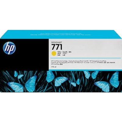 HP 771 (CE040A) Inktcartridge Geel