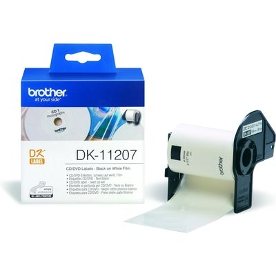 Etiket Brother DK-11207 58mm C-D-DVD 100stuks