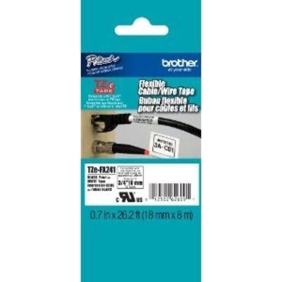 Brother Labels TZeFX631 Zwart op Geel 12 mm x 8 m