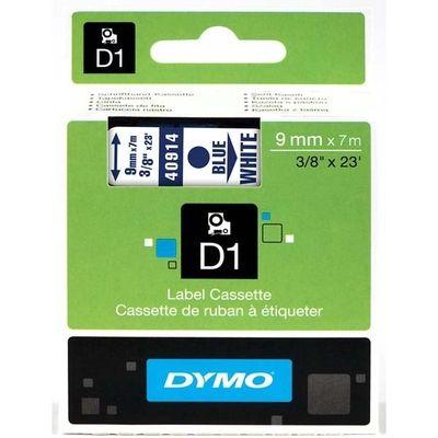 Labeltape Dymo 40914 D1 720690 9mmx7m Blauw op wit