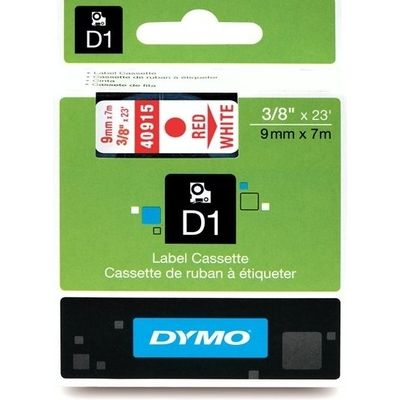 Dymo 40915 (S0720700) Tape Rood op wit (9 mm)