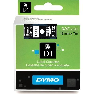 Dymo 45811 (S0720910) Tape Wit op zwart (19 mm)