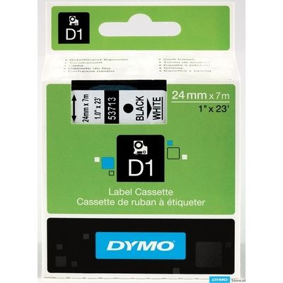 Dymo 53713 (S0720930) Tape Zwart op wit (24 mm)