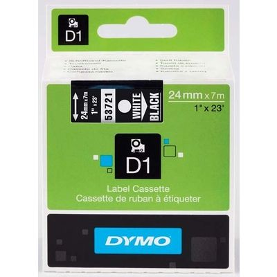 Dymo 53721 (S0721010) Tape Wit op zwart (24 mm)