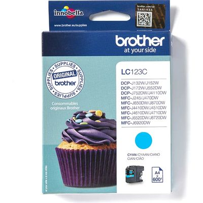 Brother LC-123C Inktcartridge Cyaan