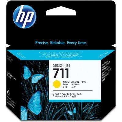 Inkcartridge HP CZ136A nr.711XL geel HC