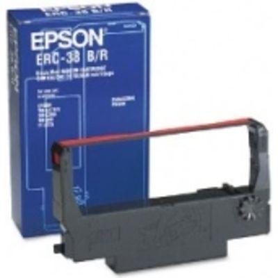 Epson Ribbon Cartridge TM-300-U300-U210D-U220-U230, black-red (ERC38BR)