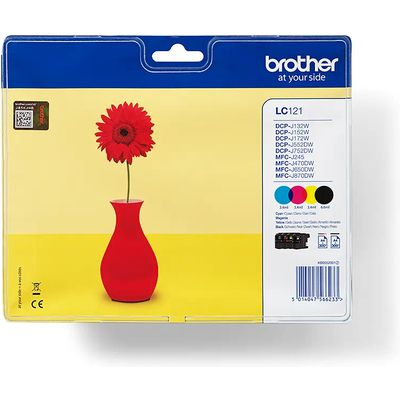 INKCARTRIDGE BROTHER LC-121 ZWART 3 KLEUREN