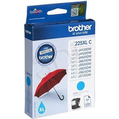 Brother LC-225XLC Inktcartridge Cyaan Hoge capaciteit