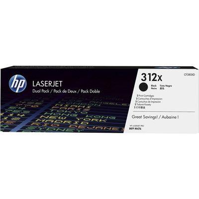 HP 312X 2-pack High Yield Black Original LaserJet Toner Cartridges