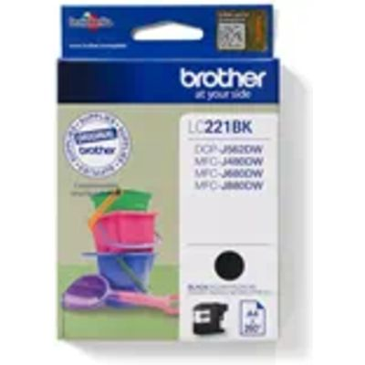 Brother LC-221BK Inktcartridge Zwart