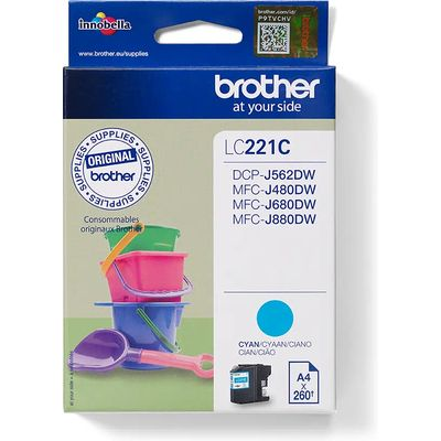 Brother LC-221C Inktcartridge Cyaan