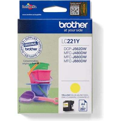 Brother LC-221Y Inktcartridge Geel