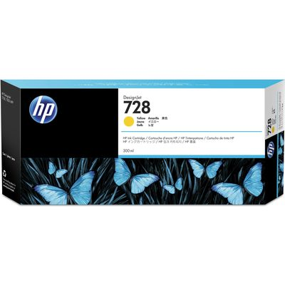 HP 728 (F9K15A) Inktcartridge Geel