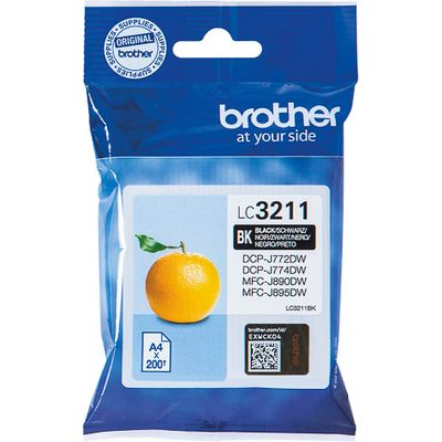 Brother LC-3211BK 200pagina's Zwart inktcartridge